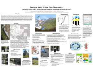 Southern Sierra Critical Zone Observatory