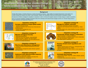 Adaptation strategies for climate change in