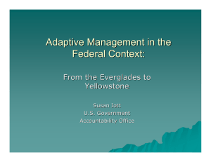 Adaptive Management in the Federal Context: From the Everglades to Yellow