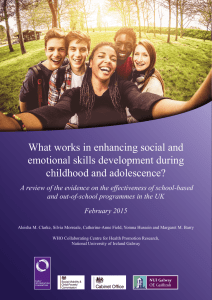 What works in enhancing social and emotional skills development during