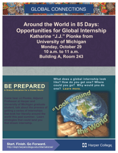 Around the World in 85 Days: Opportunities for Global Internship