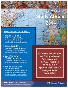 For more information on Study Abroad Short-term Class Trips