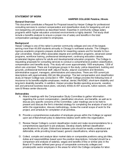 STATEMENT OF WORK HARPER COLLEGE Palatine, Illinois General Overview