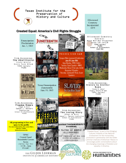 Created Equal: America's Civil Rights Struggle Texas Institute for the Preservation of