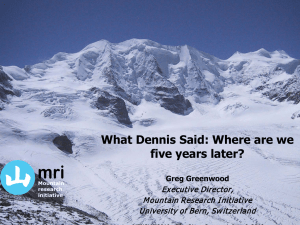 mri What Dennis Said: Where are we five years later? Executive Director,