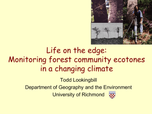 Life on the edge: Monitoring forest community ecotones in a changing climate