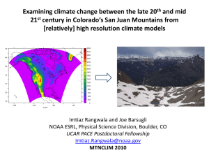 Examining climate change between the late 20 and mid 21