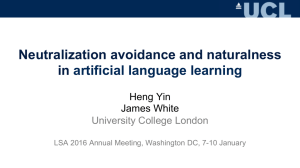 Neutralization avoidance and naturalness in artificial language learning