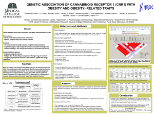 GENETIC ASSOCIATION OF CANNABINOID RECEPTOR 1 (CNR1) WITH