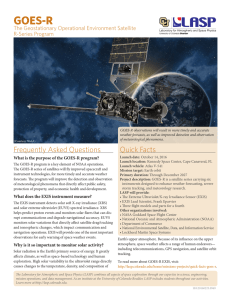 GOES-R The Geostationary Operational Environment Satellite R-Series Program