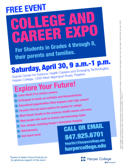 COLLEGE AND CAREER EXPO FREE EVENT 9 a.m.-1 p.m.