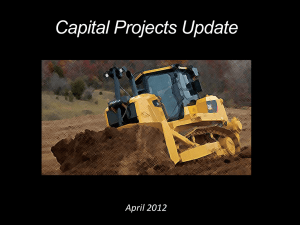 Capital Projects Update April 2012