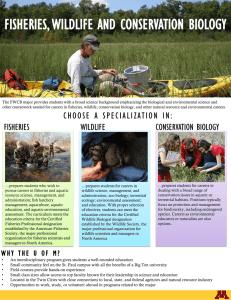 FISHERIES, WILDLIFE AND CONSERVATION BIOLOGY