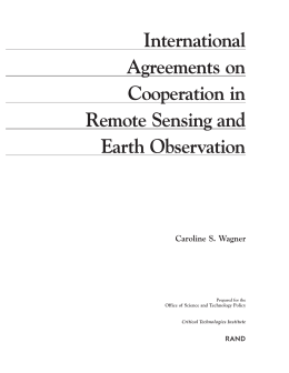 International Agreements on Cooperation in Remote Sensing and