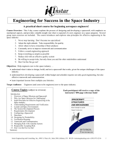 Engineering for Success in the Space Industry