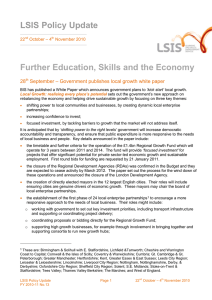 LSIS Policy Update Further Education, Skills and the Economy 28