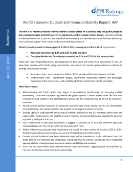 World Economic Outlook and Financial Stability Report: IMF  s ic