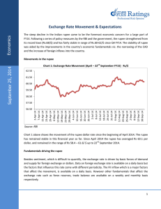 Exchange Rate Movement & Expectations