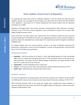 State Update: Government of Rajasthan  s