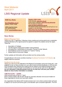 LSIS Regional Update West Midlands April 2011