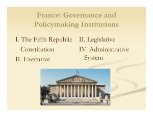 France: Governance and Policymaking Institutions