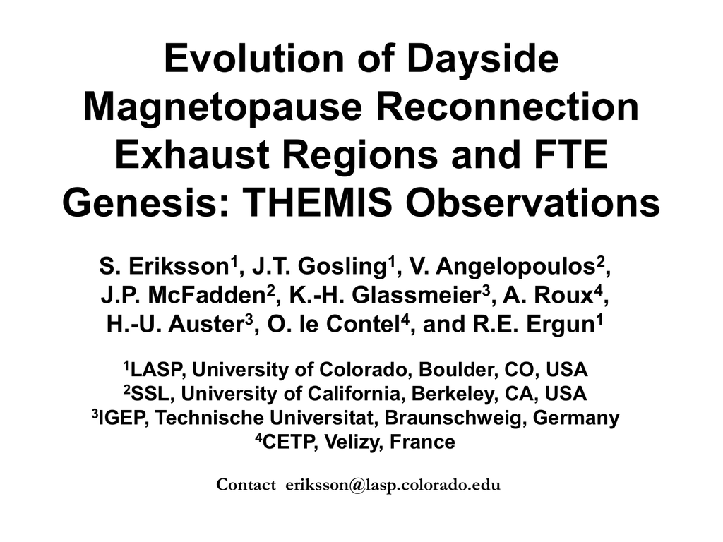 Evolution of Dayside Magnetopause Reconnection Exhaust Regions and