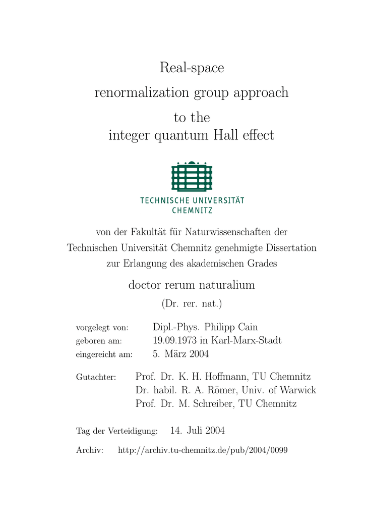 Real-space renormalization group approach to the integer