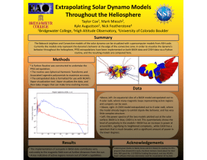 Extrapolating Solar Dynamo Models Throughout the Heliosphere