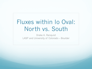 Fluxes within Io Oval: North vs. South Drake A. Ranquist