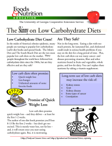 Skinny The on Low Carbohydrate Diets