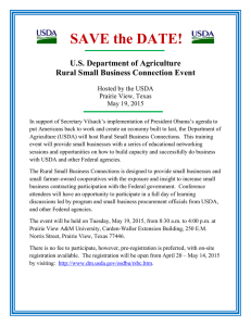 SAVE the DATE!  U.S. Department of Agriculture Rural Small Business Connection Event