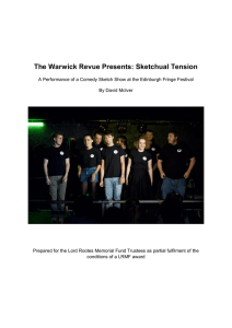 The Warwick Revue Presents: Sketchual Tension