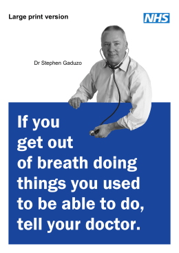 If you get out of breath doing things you used