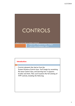 CONTROLS Introduction