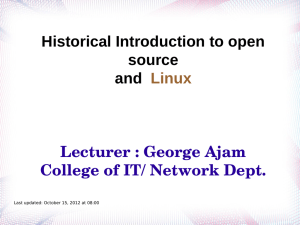 Historical Introduction to open source and Linux