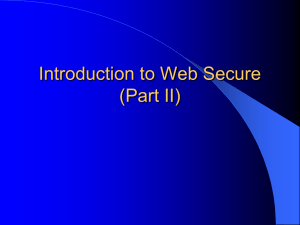 Introduction to Web Secure (Part II)