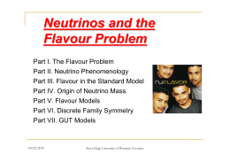 Neutrinos and the Flavour Problem