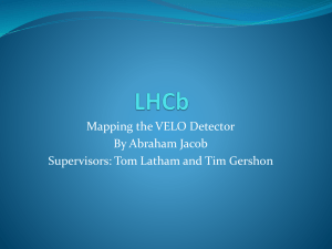 Mapping the VELO Detector By Abraham Jacob