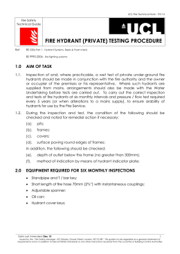 FIRE HYDRANT (PRIVATE) TESTING PROCEDURE Fire Safety  Technical Guide