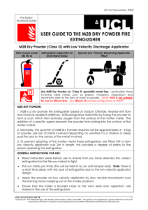 USER GUIDE TO THE M28 DRY POWDER FIRE EXTINGUISHER