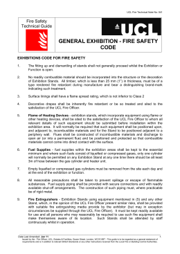 GENERAL EXHIBITION - FIRE SAFETY CODE Fire Safety Technical Guide