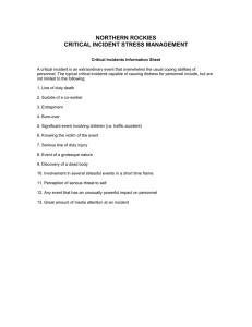 NORTHERN ROCKIES CRITICAL INCIDENT STRESS MANAGEMENT