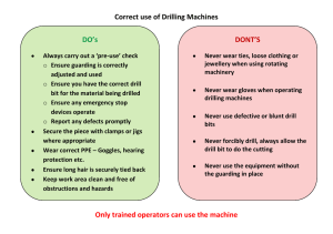 Correct use of Drilling Machines DO's DONT'S