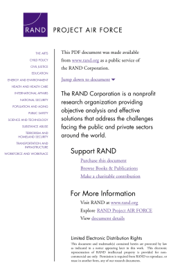 6 The RAND Corporation is a nonprofit om