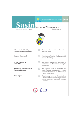 Sasin Journal of Management 2009