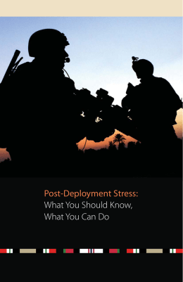 Post-Deployment Stress: What You Should Know, What You Can Do