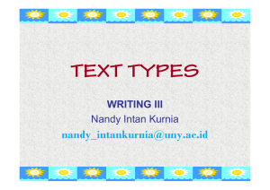 TEXT TYPES  WRITING III Nandy Intan Kurnia