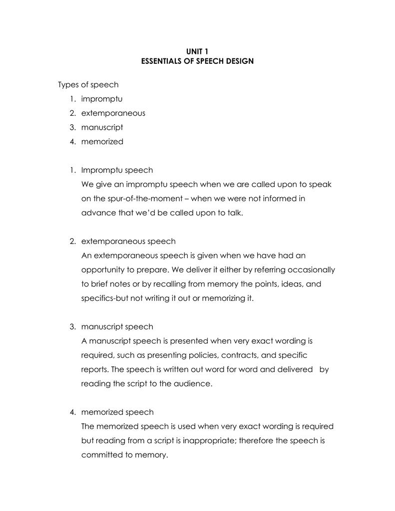 how to write a manuscript for a speech
