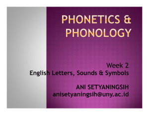 Week 2 English Letters, Sounds & Symbols ANI SETYANINGSIH