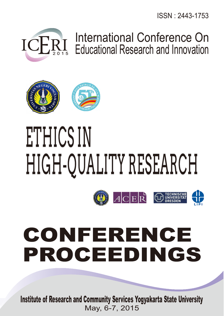 CONFERENCE PROCEEDINGS Educational Research and Innovation International Conference On